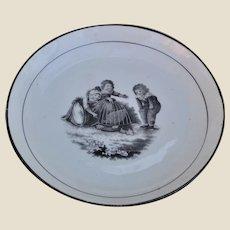 A large Adam Buck design English porcelain dish 1820s,