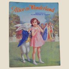 Alice in Wonderland Juvenile Production Ltd soft back 1943,