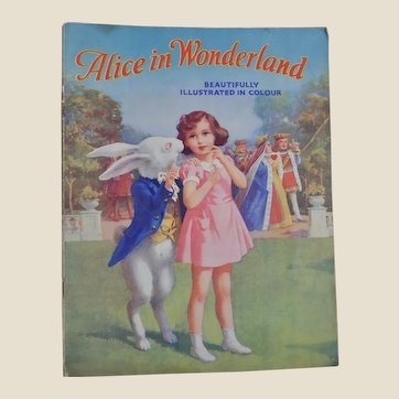 Alice in Wonderland Juvenile Production Ltd soft back 1943,
