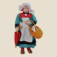 A German felt and celluloid Beccasine doll