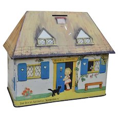 Rare Mabel Lucie Attwell Crawfords Biccy House biscuit tin 1930s,