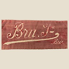 Extremely rare Bru bebe shop advertising banner or exhibition display,