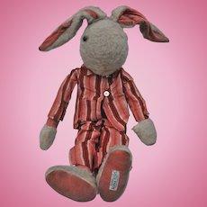 Rare 1930s Alpha Farnell rabbit in pyjamas