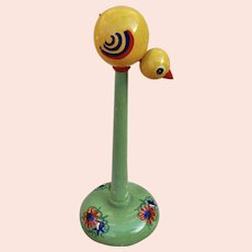 A charming 1930s child's hat stand with chick,
