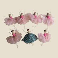 A fabulous needle worked miniature Corps de Ballet 1940-50s,