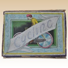 Rare J W Spears & Son Cycling game with lead gaming pieces, circa 1904
