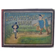Travels of Little Lord Thumb Damian and His Man, a movable toy book by Lothar Meggendorfer, 1892