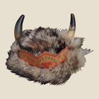 A fine quality Oeil Noir Walt Disney Davy Crockett child's fur hat 1950s,