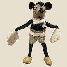 A lovely Dean's Rag Book Co Mickey Mouse circa 1928,