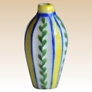 Rare Desvres dolls' house faceted vase,