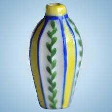 Rare Desvres dolls' house faceted vase,