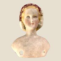 A rare 19th century parian shoulder head Princess Eugenie doll,