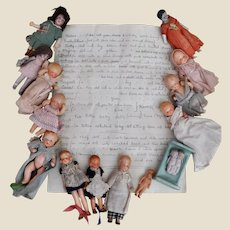 A unique 1930s dolls' house family with provenance,