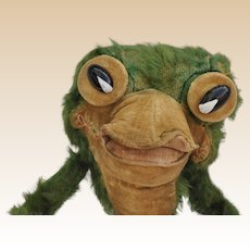 Rare British Flip the Frog soft toy, probably Chiltern Toys, 1930s