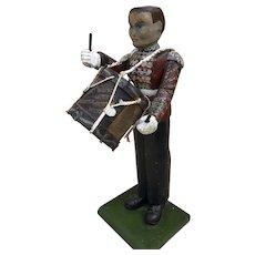 A rare British Folk Art British Army drummer boy,