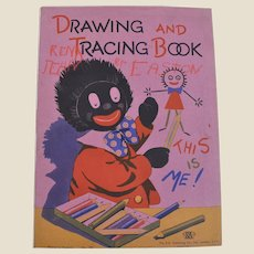 A lovely vintage Golly colouring book, a great prop for your collection, 1940s