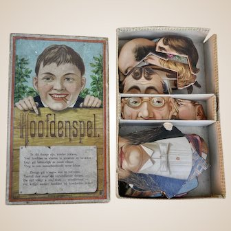 Dutch market Hoofdenspel Game of Heads, late 19th century