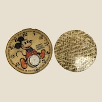 Parts from an Ingersoll Mickey Mouse pocket watch, 1930s