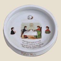 An interesting nursery rhyme baby plate of Jack Sprat,