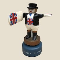A rare small British Folk Art John Bull Whirligig,