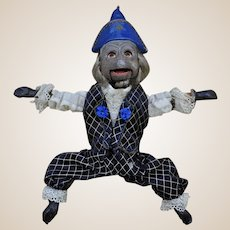 A rare 19th century German composition Jumping Jack monkey,