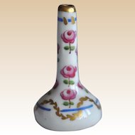 A beautiful hand painted Limoges vintage dolls' house bud vase,