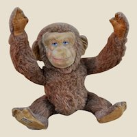 A rare 1930s Merrythought Jubilee chimp, designed by Lawson Wood
