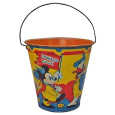 Rare Happynak Disney Mickey Mouse and friends Seaside Pail No.7