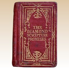 Miniature book G.E. Petter The Diamond Scripture Promises, 1853