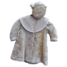 A rare and top quality white mohair coat and hat circa 1910