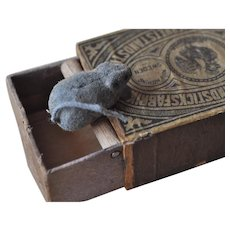 Rare late 19th century trick matchbox with composition appearing mice!