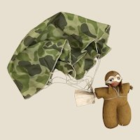 An unusual military parachutist cloth doll, 1930-40s