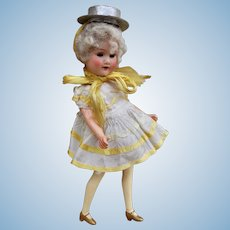 An unusual and charming Armand Marseille 390 painted bisque doll,