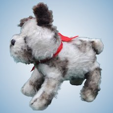 A sweet good quality English wool plush puppy, 1930s, possibly Farnell