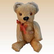 A sweet Pixie Toy teddy bear with label, 1950s