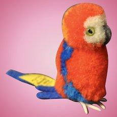 A 1960s Steiff pom-pom woollen parrot,