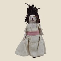 A primitive rag dolls' house doll, early 20th century