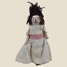 A primitive rag dolls' house doll, early 20th century