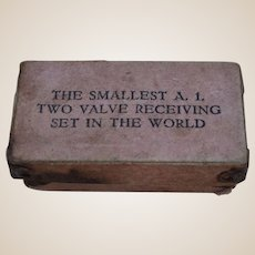 The Smallest A.1. Two Valve Receiving Set in the World! - a joke circa 1916