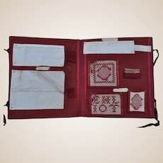 A wonderful 19th century school sampler album,