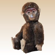 A Schuco yes/no small sized mohair monkey, 1950s