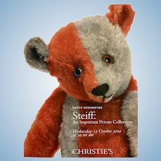 Steiff auction catalogue for 2010 Christie's sale of the Greenwood collection,