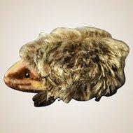 A post-war Steiff hedgehog, 1950s