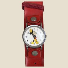 An original 1970s Timex Mickey Mouse wrist watch,