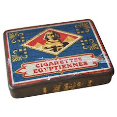 Rare 1920s trick Cigarettes Egyptian tin,