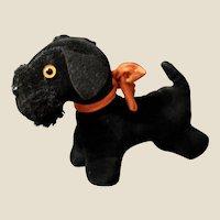 A darling little black velvet Scottie dog,