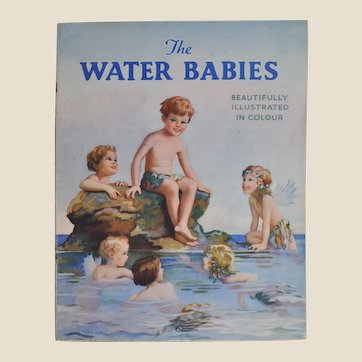The Water Babies Juvenile Production Ltd soft back book, 1940s