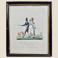 An amazing piece of black history, 19th century multi-racial print,