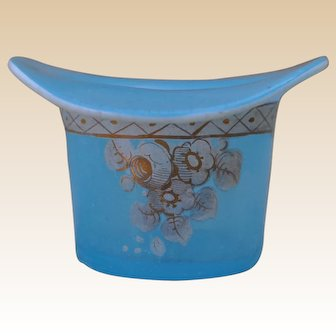 Late 19th century French pale glass top hat,