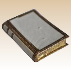 Unusual antique miniature book box, late 19th century
